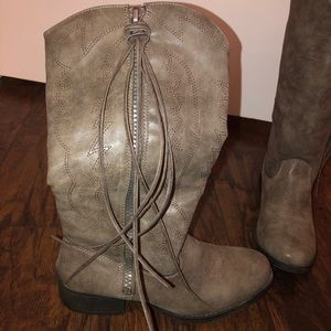 Madden Girl cowboy style grey boots